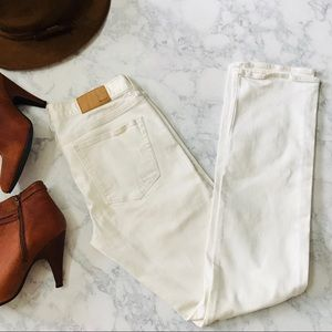 MADEWELL Distressed White Jeans